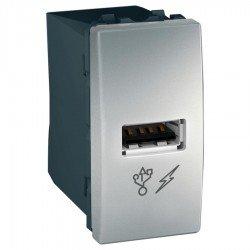 Механизъм USB зарядно 1М алуминий