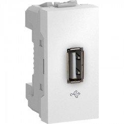 Механизъм USB 1М бял