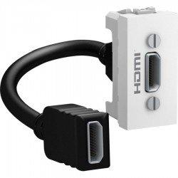 Розетка HDMI 1М бял