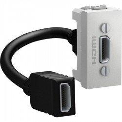 Розетка HDMI 1М алуминий