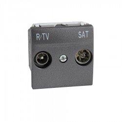 Механизъм R-TV/SAT междинна в серия 2М графит