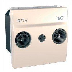 Механизъм R-TV/SAT междинна в серия 2М слонова кост
