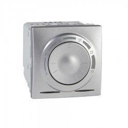 Електронен термостат 8А алуминий двумодулен (механизъм)