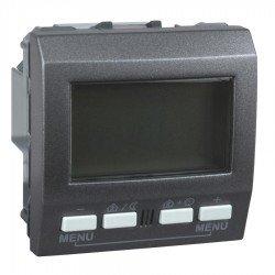 Механизъм KNX регулатор на стайна температура 2М 230 VAC графит