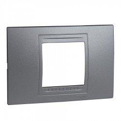 Рамка декоративна двумодулна алуминий