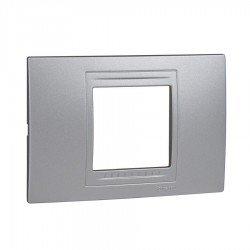 Рамка декоративна двумодулна сребро