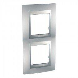 Рамка декоративна двойна вертикална алуминий
