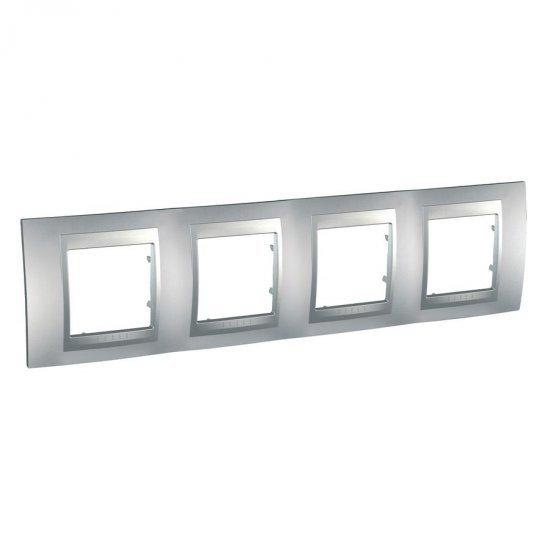 Рамка декоративна четворна алуминий