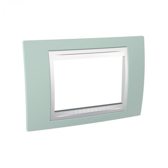 Рамка декоративна тримодулна морскозелен/бял