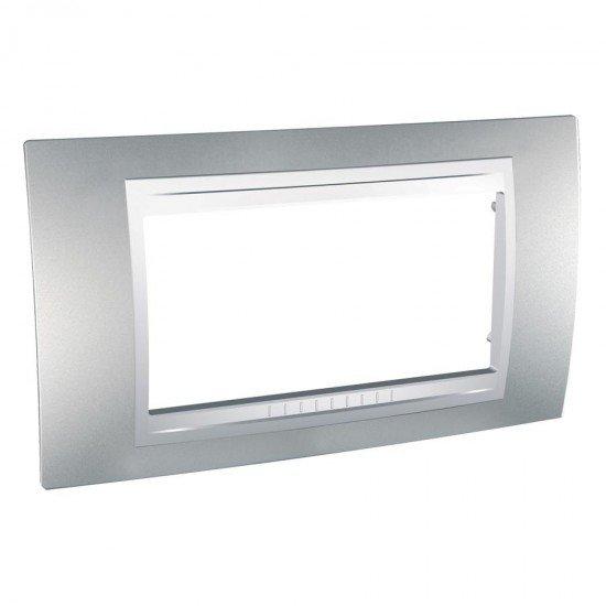 Рамка декоративна четиримодулна алуминий