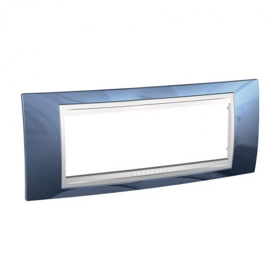 Рамка декоративна шестмодулна ледено синьо /бял