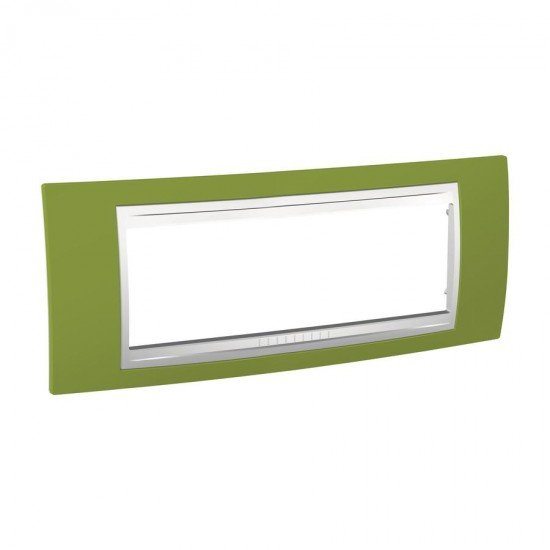 Рамка декоративна шестмодулна яркозелен/бял