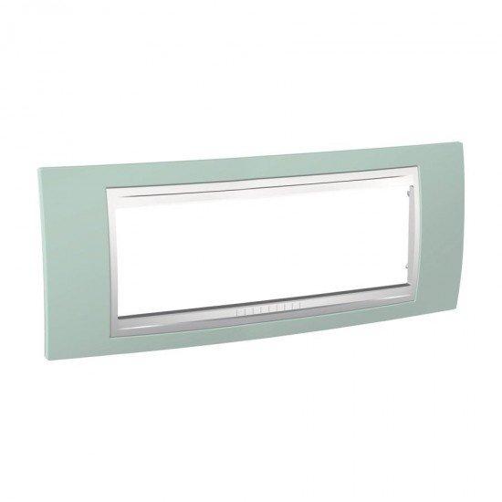 Рамка декоративна шестмодулна морскозелен/бял