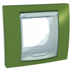 Капак и монтажна рамка IP44 ярко зелен
