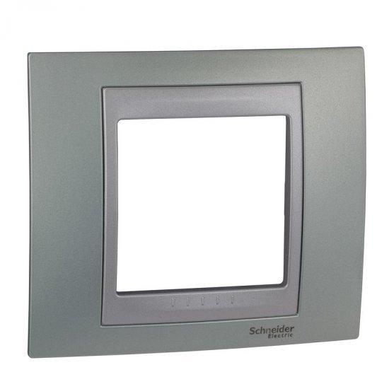 Рамка декоративна единична, зелен флуоресцентен/алуминий