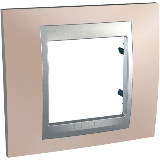 Рамка декоративна единична мед оникс/алуминий
