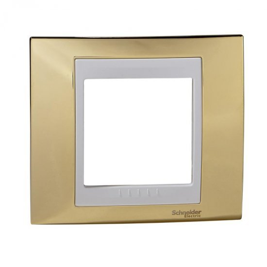 Рамка декоративна единична злато/бял