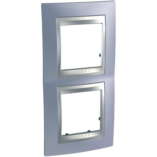 Рамка декоративна двойна вертикална берил/алуминий
