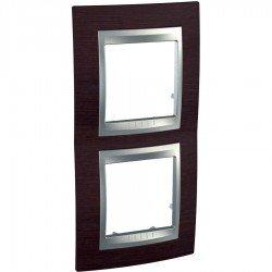 Рамка декоративна двойна вертикална венге/алуминий