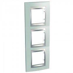 Декоративна рамка Unica Top, тройна, вертикална, зелен флуоресцентен, алуминий