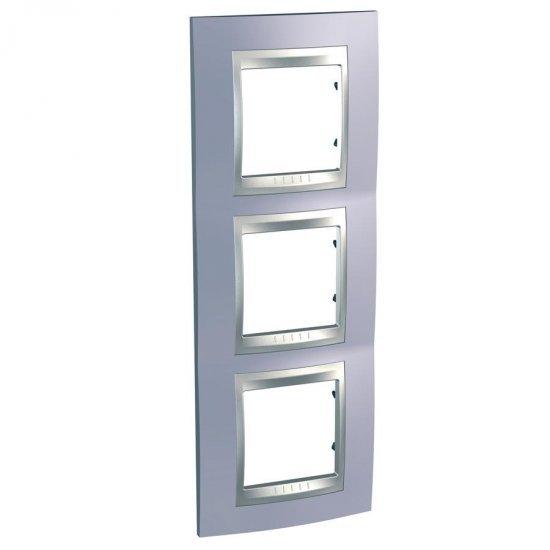 Рамка декоративна тройна вертикална берил алуминий