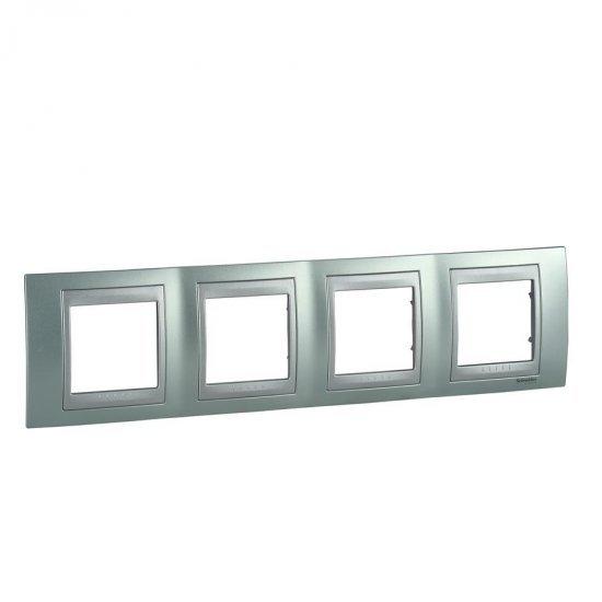Рамка декоративна четворна зелен флуоресцентен/алуминий