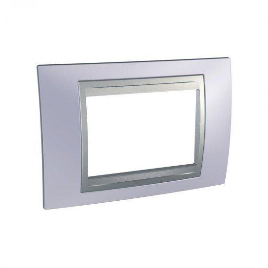 Рамка декоративна тримодулна берил - алуминий