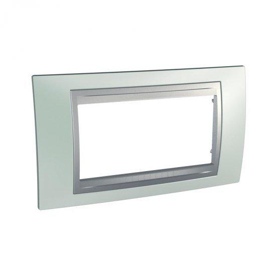 Рамка декоративна четиримодулна зелен флуоресцентен/алуминий