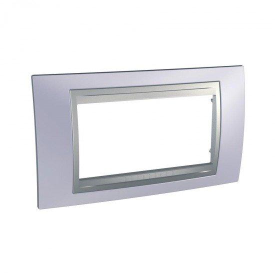 Рамка декоративна четиримодулна  берил/алуминий