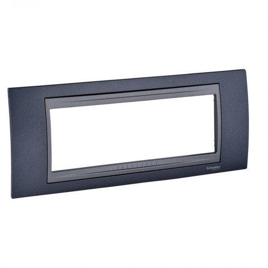 Рамка декоративна шестмодулна сив металик/графит