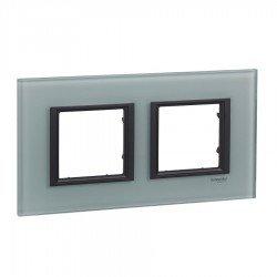 Рамка декоративна двойна кристално сив