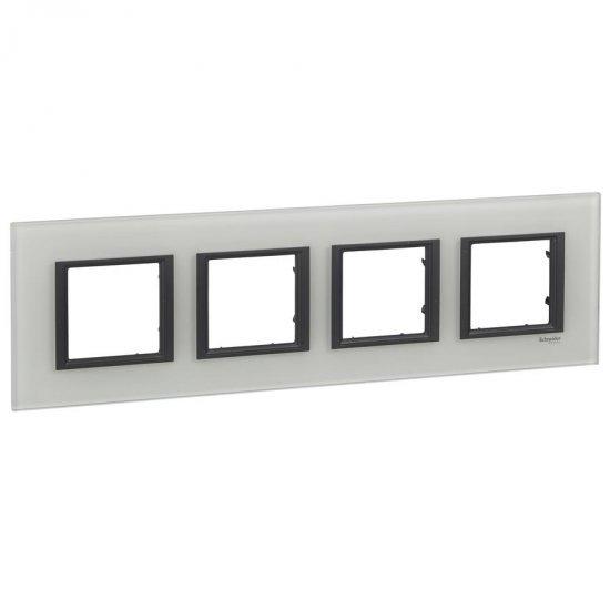 Рамка декоративна четворна бяло стъкло