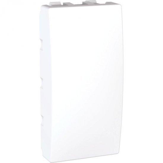 Капак декоративен - празен модул 1М бял