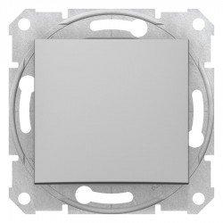 Еднополюсен ключ, алуминий (механизъм + монт. рамка)