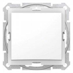 Еднополюсен ключ IP44, бял (механизъм + монтажна рамка)