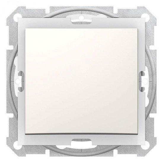 Еднополюсен ключ IP44, крема (механизъм + монтажна рамка)