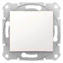Еднополюсен ключ, крема (механизъм + монт. рамка)