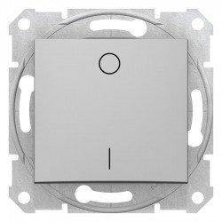 Двуполюсен ключ, алуминий (механизъм + монт. рамка)