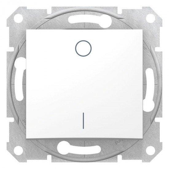 Двуполюсен ключ 16 A, бял