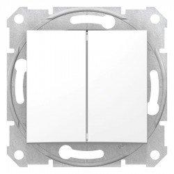 Сериен ключ, бял (механизъм + монт. рамка)