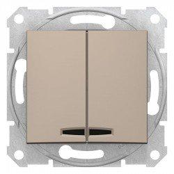 Сериен ключ със сигнална лампа, титан (механизъм + монт. рамка)