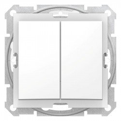 Сериен ключ IP44, бял (механизъм + монт. рамка)