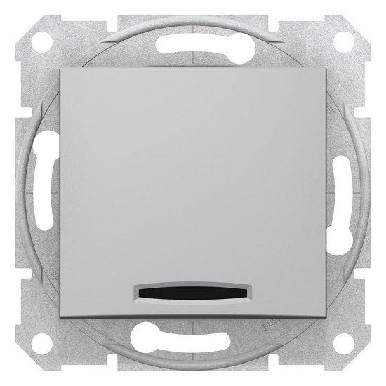 Еднополюсен ключ с индикация, алуминий