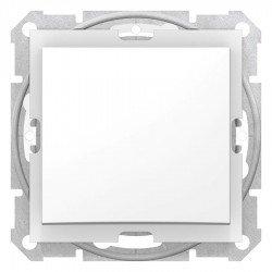 Кръстат ключ Sedna - 10AX IP44 без рамка, бял