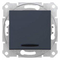 Кръстат ключ със сигнална лампа, графит  (механизъм + монт. рамка)