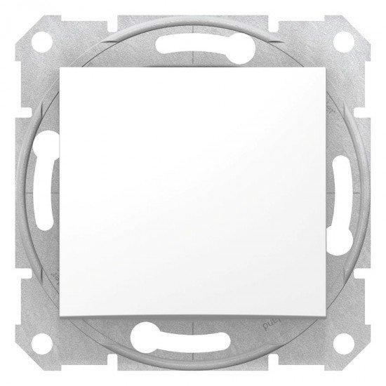 Бутон, бял (механизъм + монт. рамка)