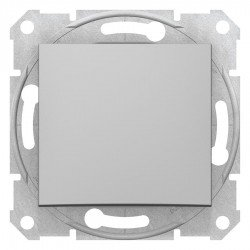 Бутон алуминий (механизъм + монт. рамка)