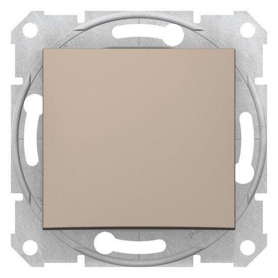 Бутон, цвят титан,  (механизъм + монт. рамка)