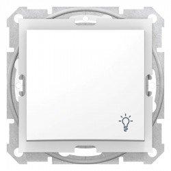 Бутон осветление IP44, бял