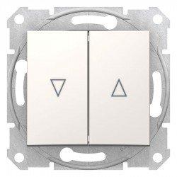 Бутон за управление на щори, крема (механизъм + монт. рамка)
